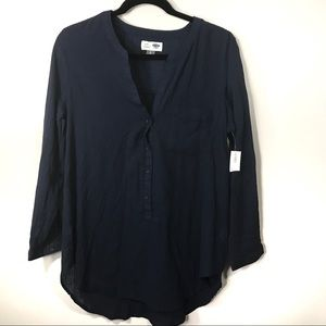 Old Navy Tunic Top Large NWT Blue